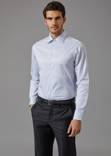 Cotton shirt with French collar