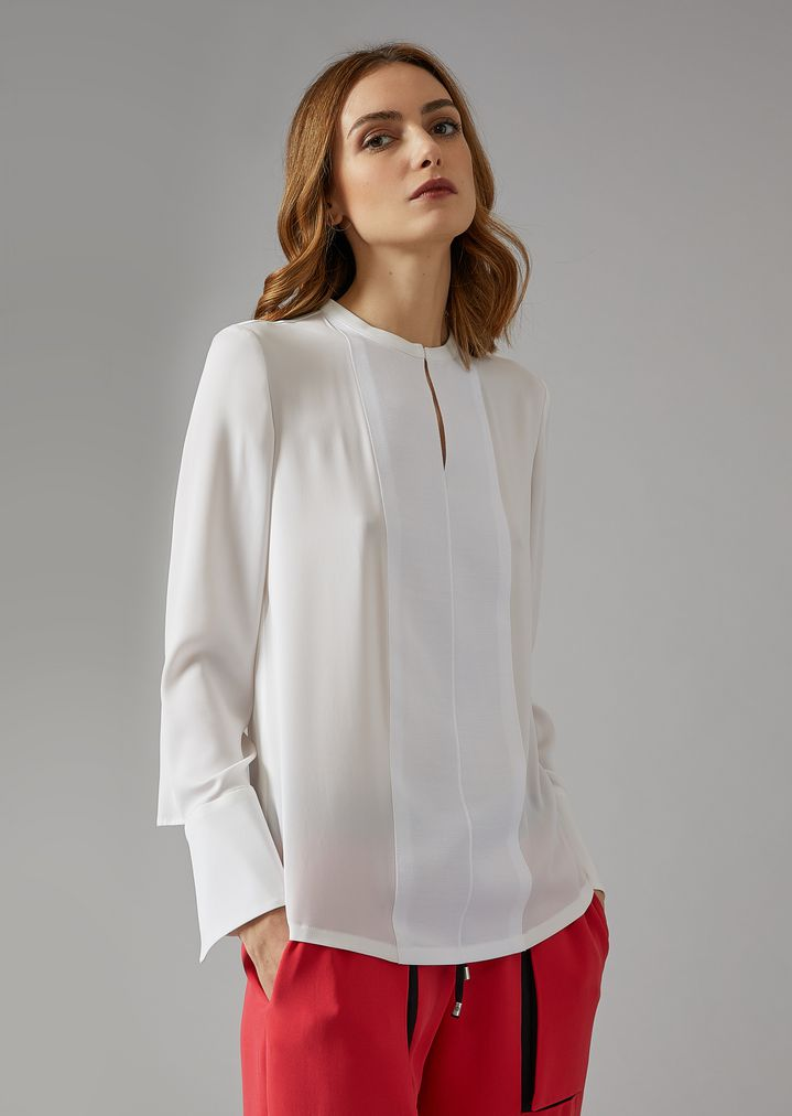 buy popular b267e 8d557 Camicia in crepe di seta   Donna   Giorgio Armani