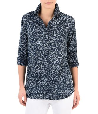 NAPAPIJRI GENUIE WOMAN LONG SLEEVE SHIRT,DARK BLUE