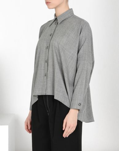 MM6 MAISON MARGIELA Long sleeve shirt Woman Oversized virgin wool shirt f
