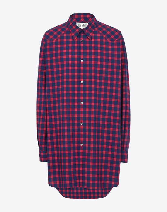 MAISON MARGIELA Long sleeve shirt Man Two-tone check shirt f
