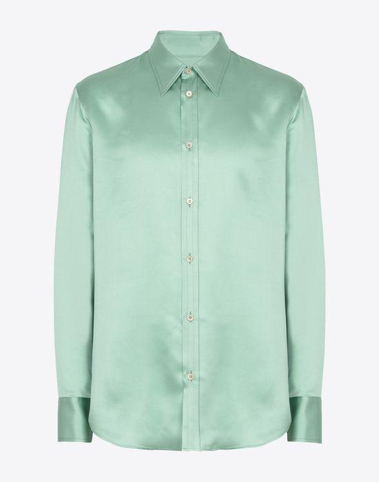 c891692833d MAISON MARGIELA Silk satin shirt Long sleeve shirt       pickupInStoreShippingNotGuaranteed info