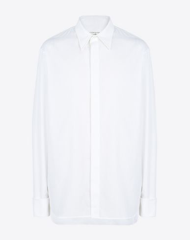 MAISON MARGIELA Classic cotton poplin shirt Long sleeve shirt U f