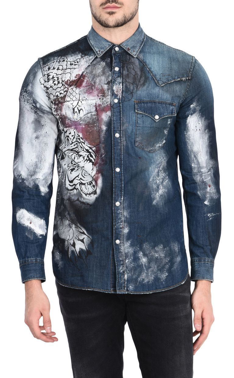 info for a547a 5a422 Just Cavalli Camicia Jeans Uomo | Official Online Store
