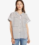 Karl Sails Striped Short Sleeve Shirt