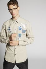 DSQUARED2 Poplin Patches Relax Dan Shirt Long sleeve shirt Man