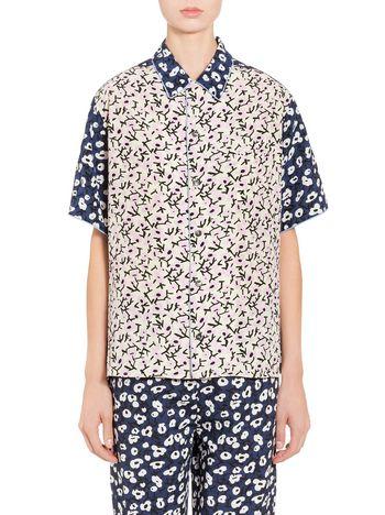 Marni Shirt in silk crepe; Sofia print Woman