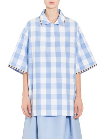 Marni Chequered shirt in Gingham poplin Woman