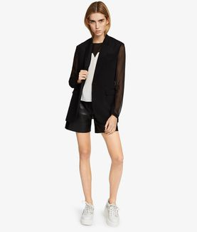 KARL LAGERFELD SILK COLOUR BLOCK TOP