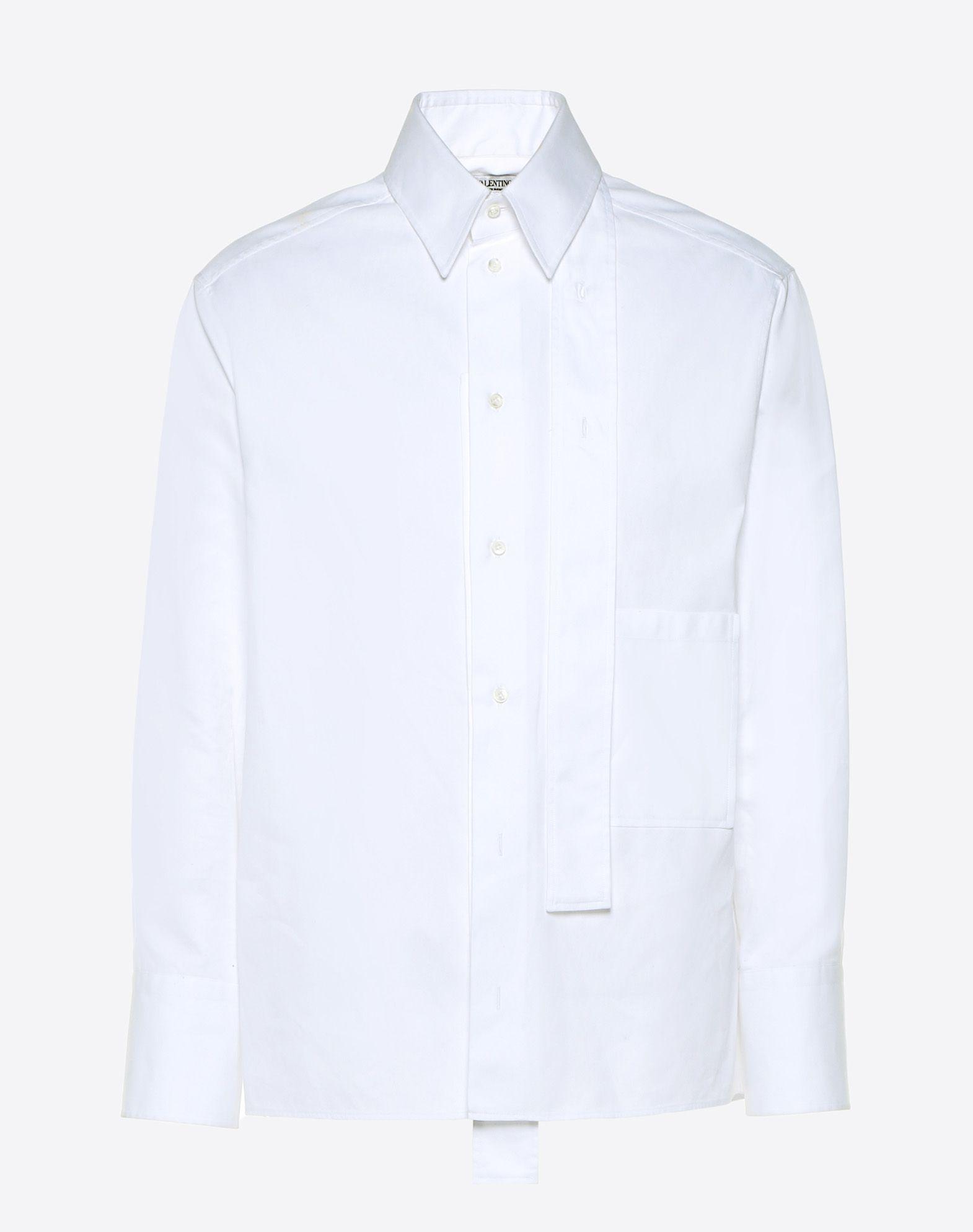 VALENTINO No appliqués Plain weave Solid colour Classic Neckline Buttoned cuffs Button closing  38723533hf