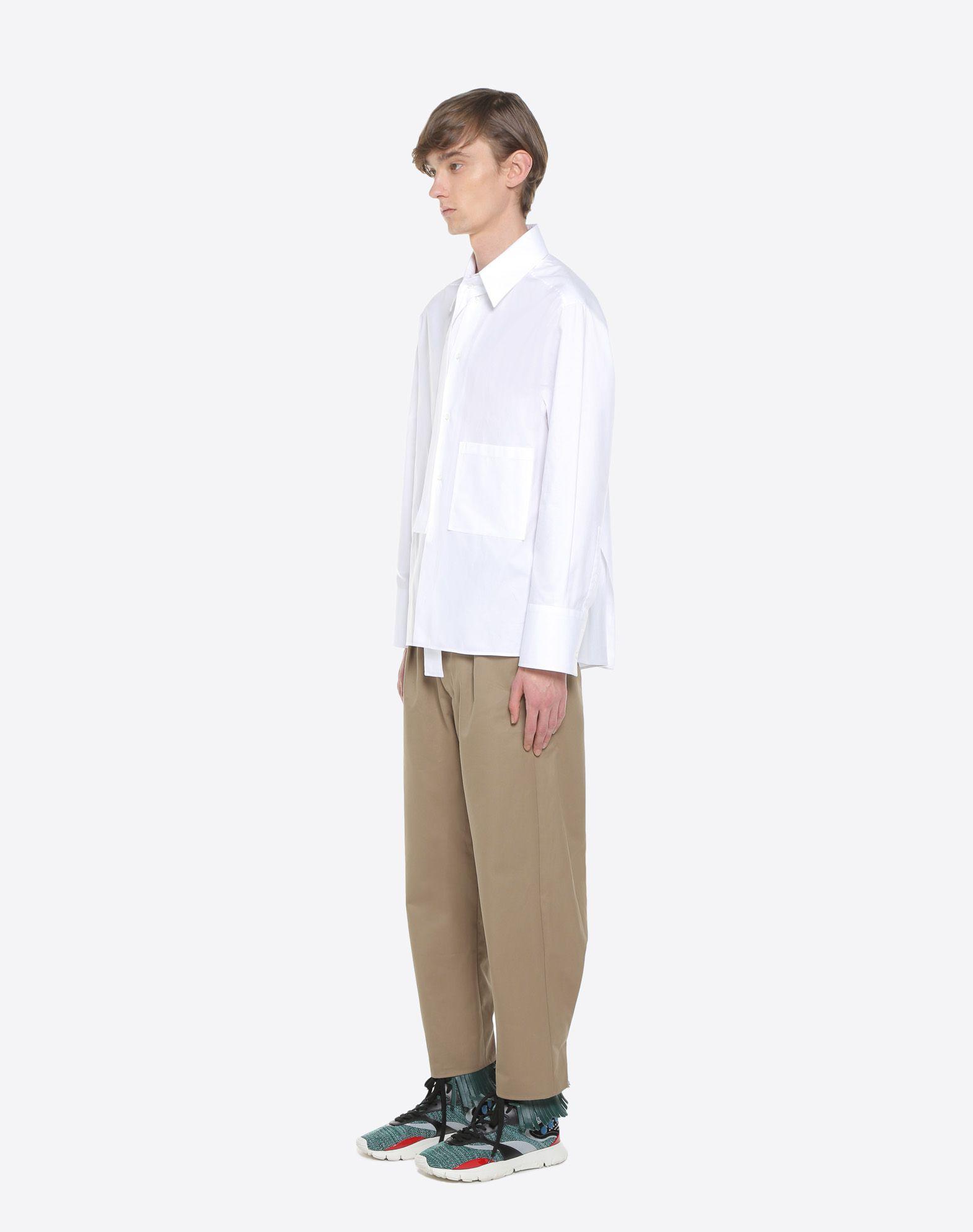VALENTINO UOMO Long-sleeve denim shirt Shirt U d