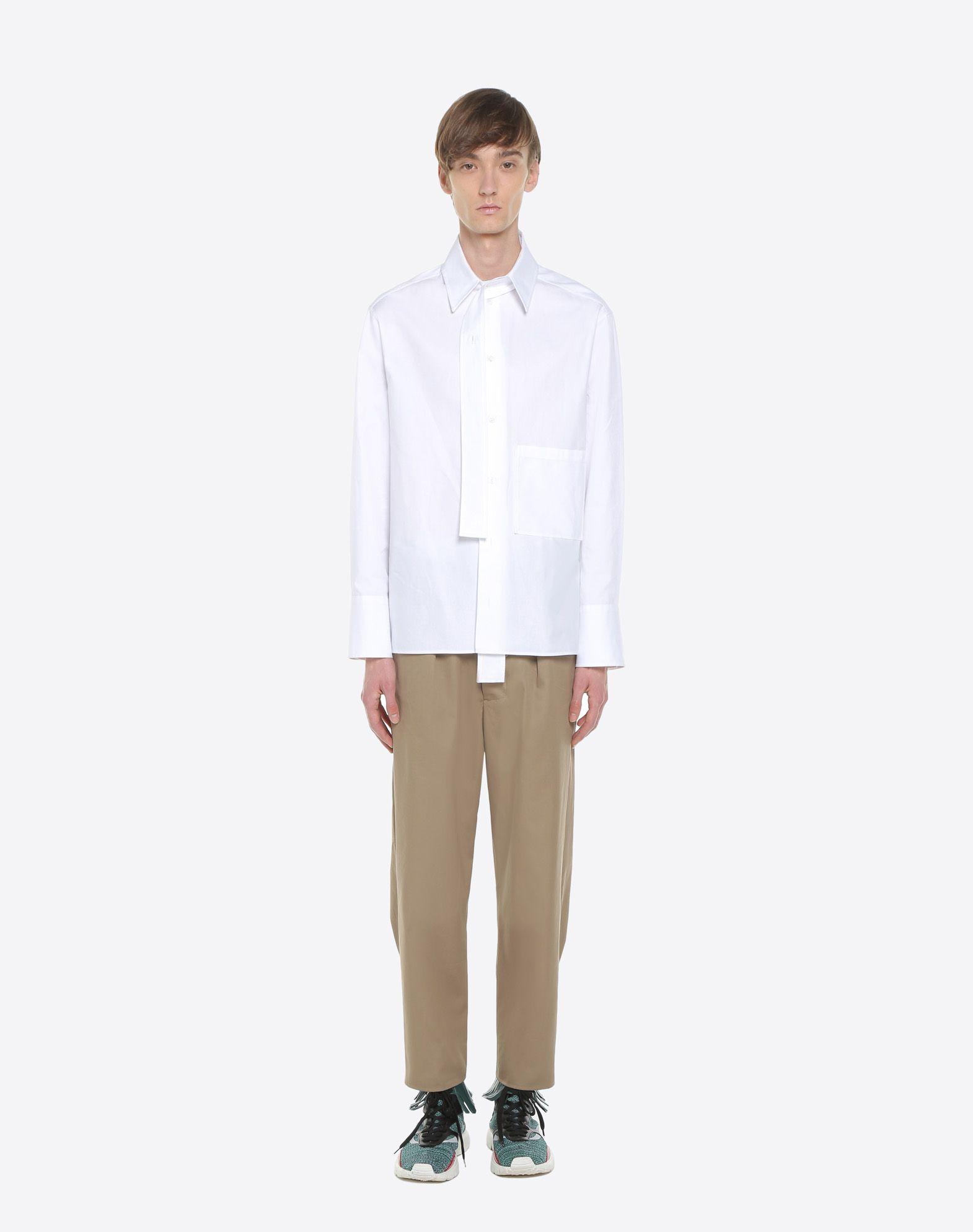 VALENTINO UOMO Long-sleeve denim shirt Shirt U r