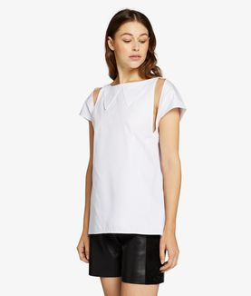 KARL LAGERFELD FOLDED COLLAR DETAIL TOP