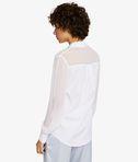 KARL LAGERFELD Camicia con Zip in Popeline e Seta 8_d