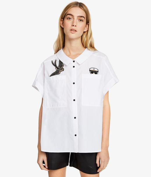 KARL LAGERFELD Captain Karl Patch Shirt 12_f