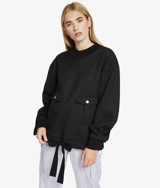 KARL LAGERFELD Oversize Mesh Sweatshirt 12_f