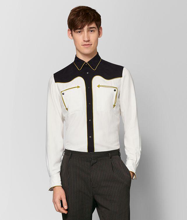 BOTTEGA VENETA MIST NERO SILK SHIRT Shirt Man fp