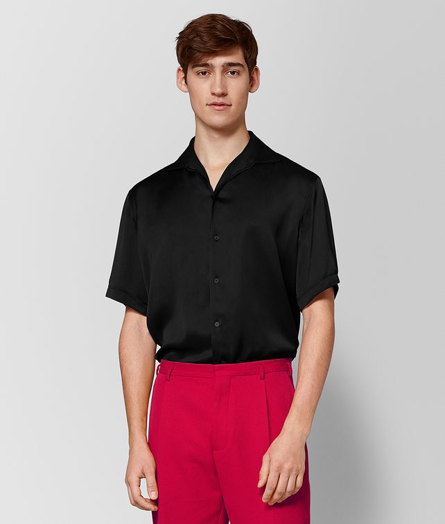 BOTTEGA VENETA NERO SILK SHIRT Shirt Man fp