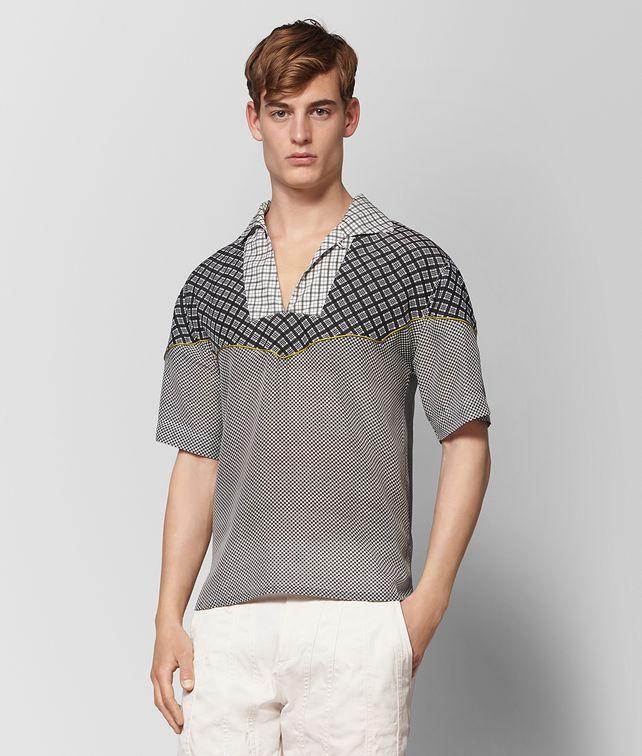BOTTEGA VENETA BIANCO NERO SILK SHIRT Shirt Man fp