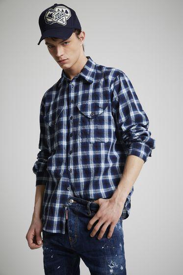 DSQUARED2 Denim shirt Man S74DM0105S30341470 m