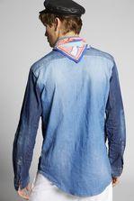 DSQUARED2 Military Denim Shirt Shirt Man
