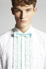 DSQUARED2 Poplin Tux Slim Shirt  Рубашка с длинным рукавом Для Мужчин
