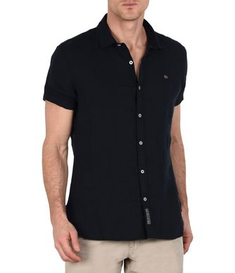 NAPAPIJRI GERVAS SHORT SLEEVES MAN SHORT SLEEVE SHIRT,DARK BLUE