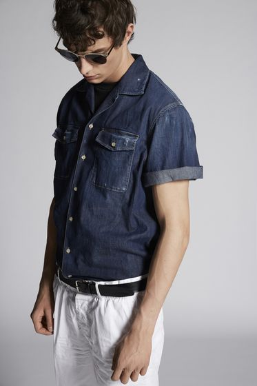 DSQUARED2 Denim shirt Man S74DM0103S30341470 m