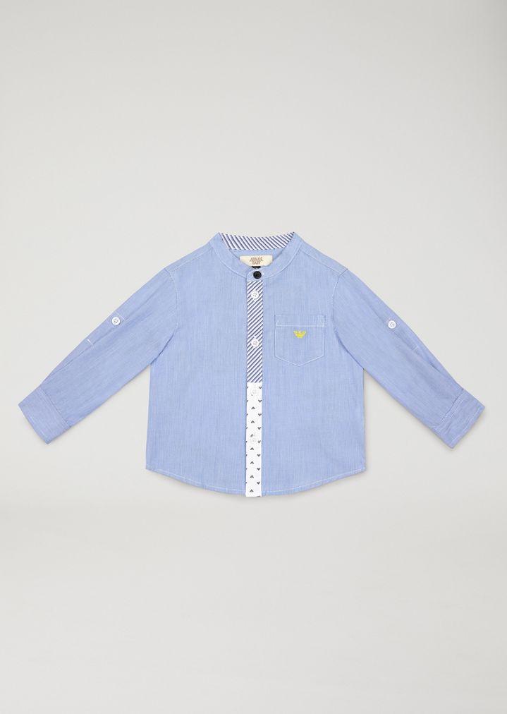 best website ed578 e8632 Camicia Con Dettagli Logati | Bambino | Armani Junior