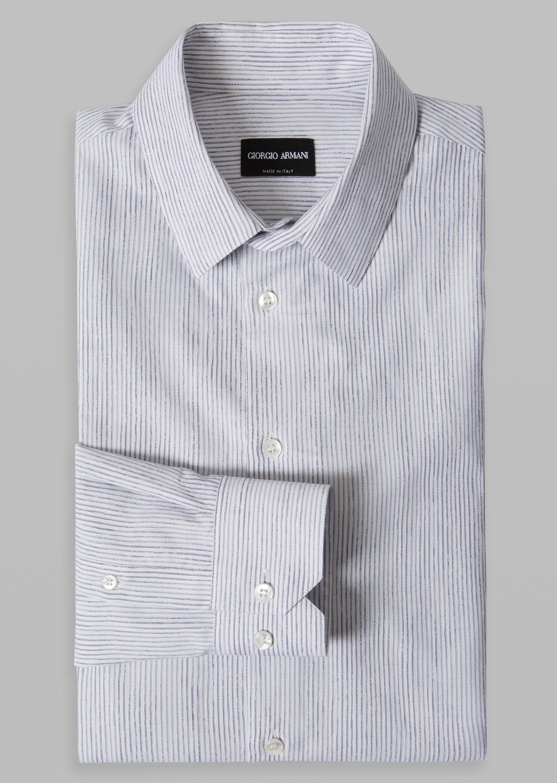 ... GIORGIO ARMANI Striped cotton shirt Classic Shirt U r ...