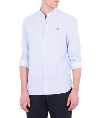 NAPAPIJRI GIDE MAN LONG SLEEVE SHIRT,SKY BLUE