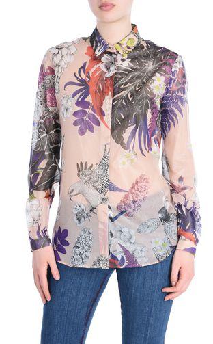 JUST CAVALLI Short sleeve t-shirt Woman Frilled sleeve T-shirt f