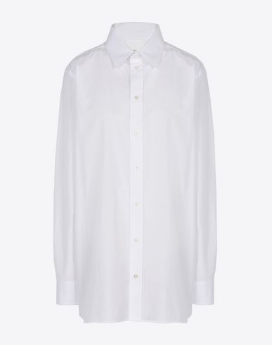 MAISON MARGIELA Silk cotton blend shirt Long sleeve shirt Woman f