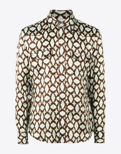 MAISON MARGIELA Long sleeve shirt U Printed viscose shirt f