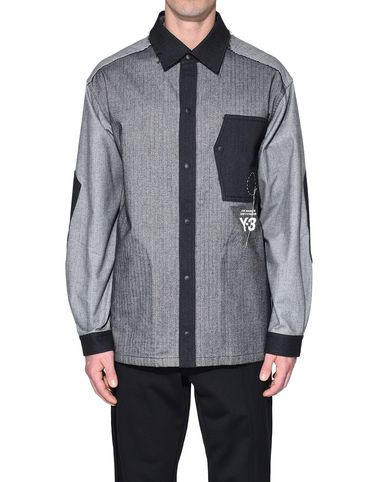 Y-3 Long sleeve shirt Man Y-3 Herringbone Overshirt r