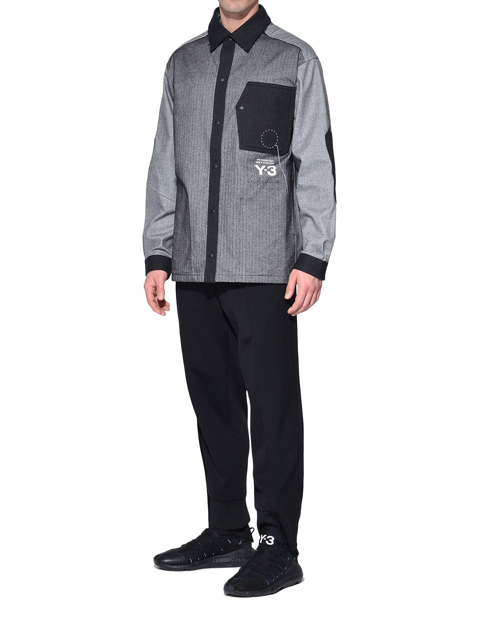 Y-3 Y-3 Herringbone Overshirt Long sleeve shirt Man a