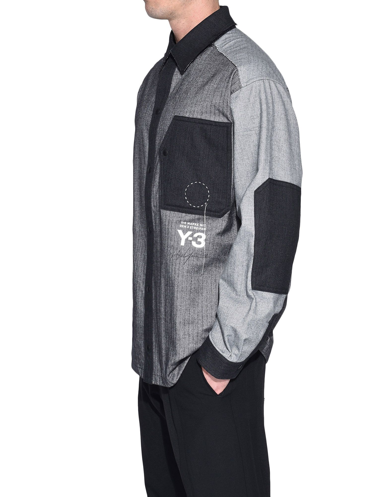 Y-3 Y-3 Herringbone Overshirt Long sleeve shirt Man e