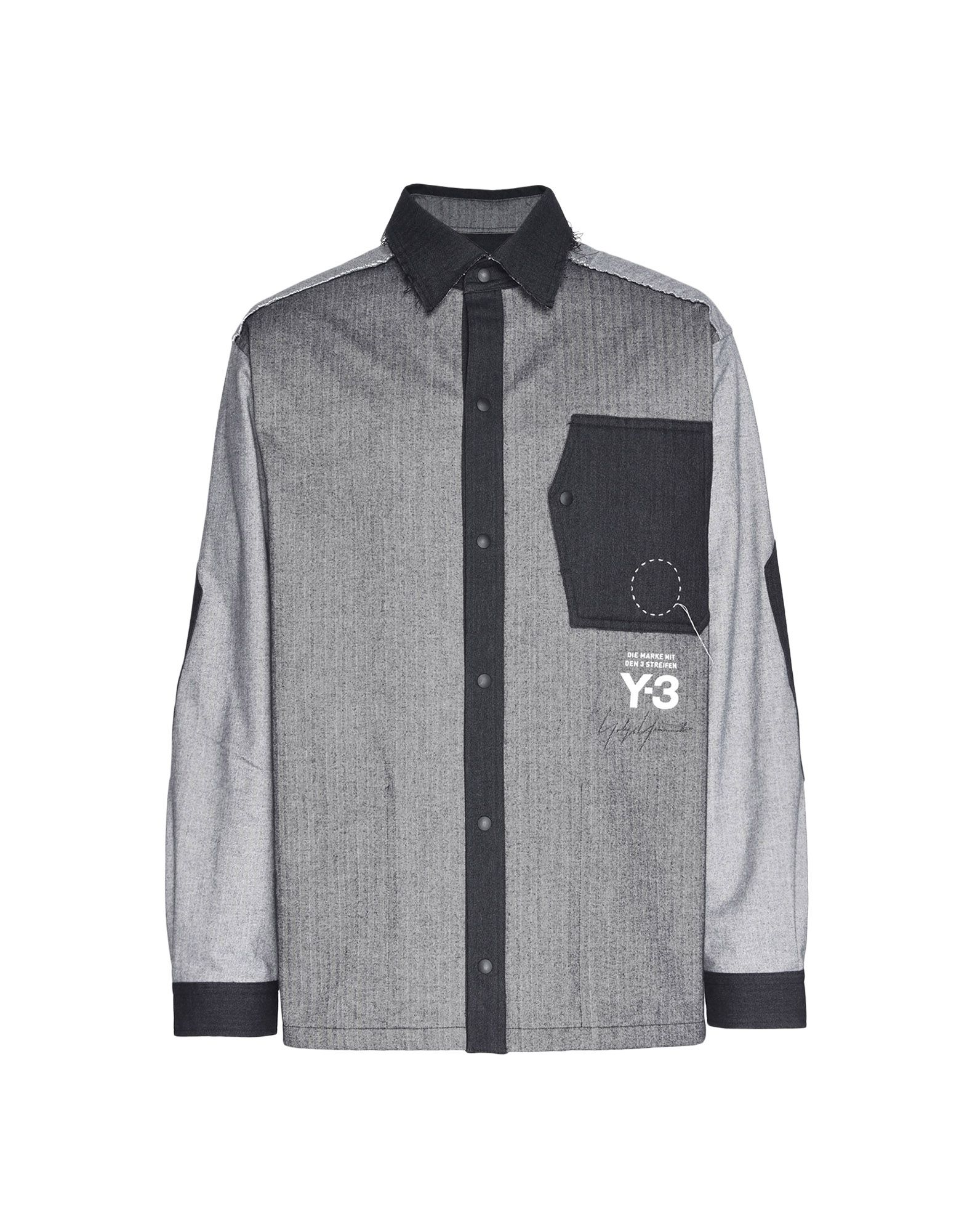 Y-3 Y-3 Herringbone Overshirt Long sleeve shirt Man f