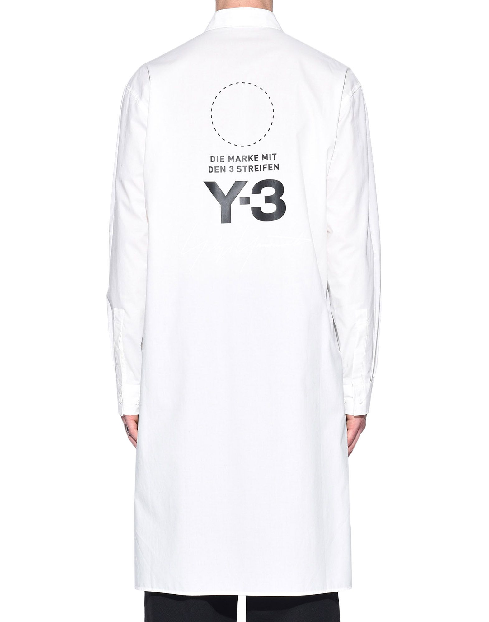 Y-3 Y-3 Stacked Logo Shirt Long sleeve shirt Man d