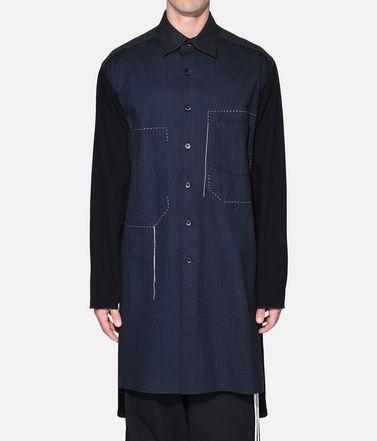 Y-3 長袖シャツ メンズ Y-3 Herringbone Long Shirt r