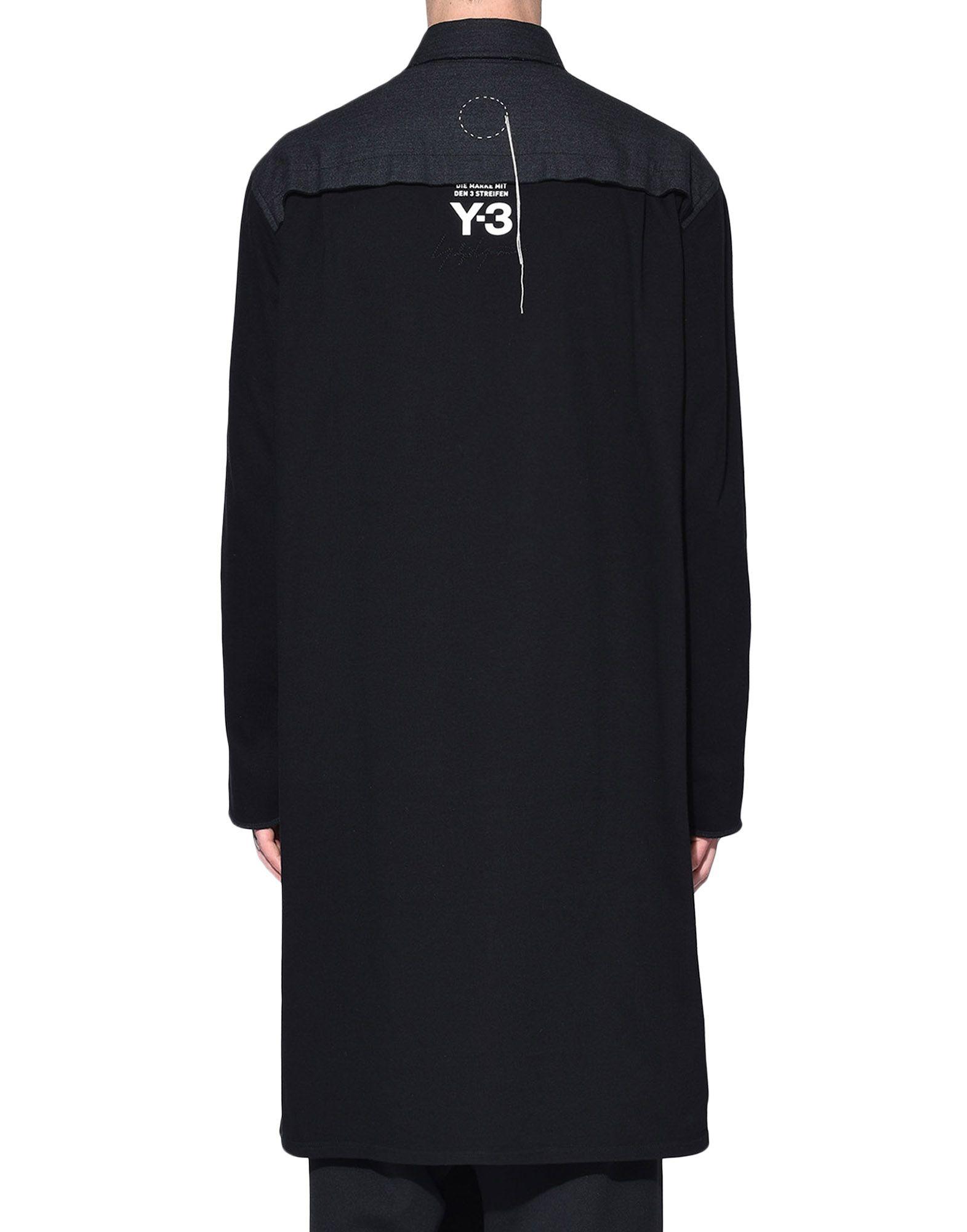 Y-3 Y-3 Herringbone Long Shirt Long sleeve shirt Man d