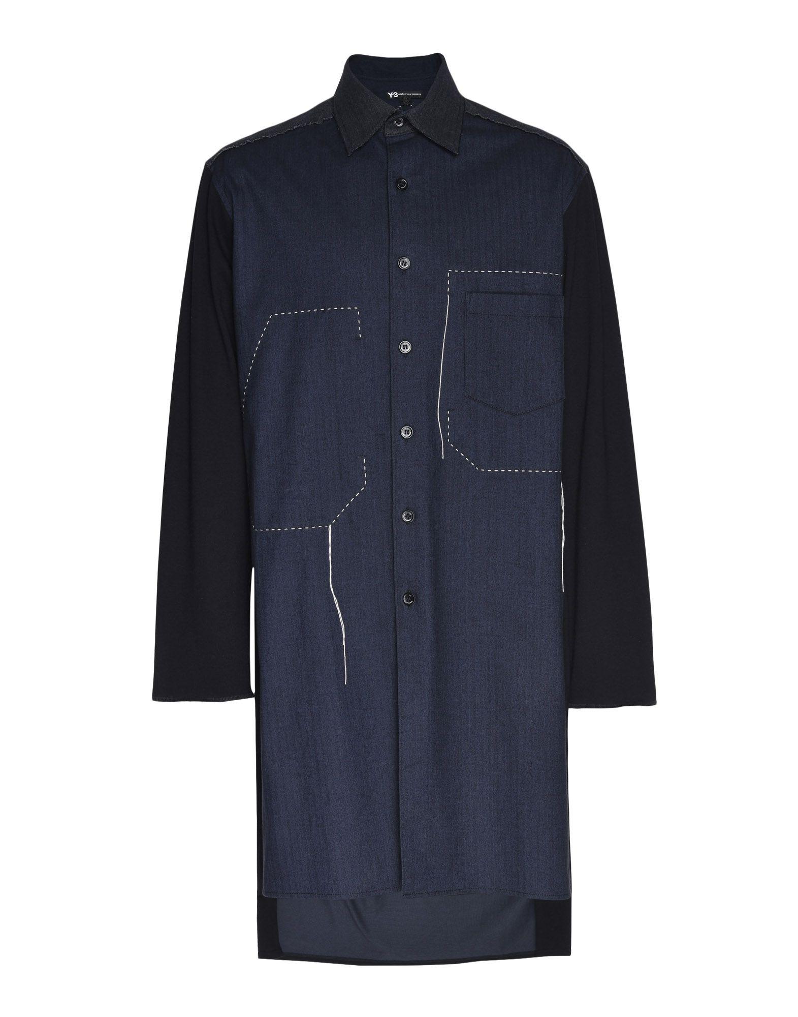 Y-3 Y-3 Herringbone Long Shirt Long sleeve shirt Man f