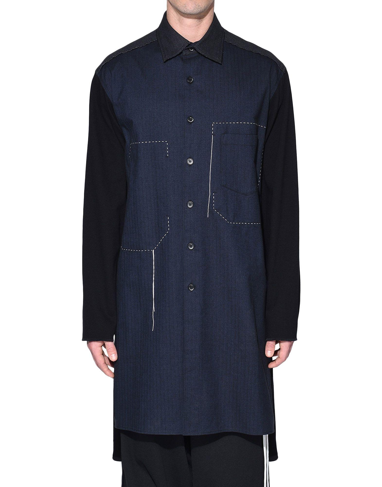 Y-3 Y-3 Herringbone Long Shirt Long sleeve shirt Man r