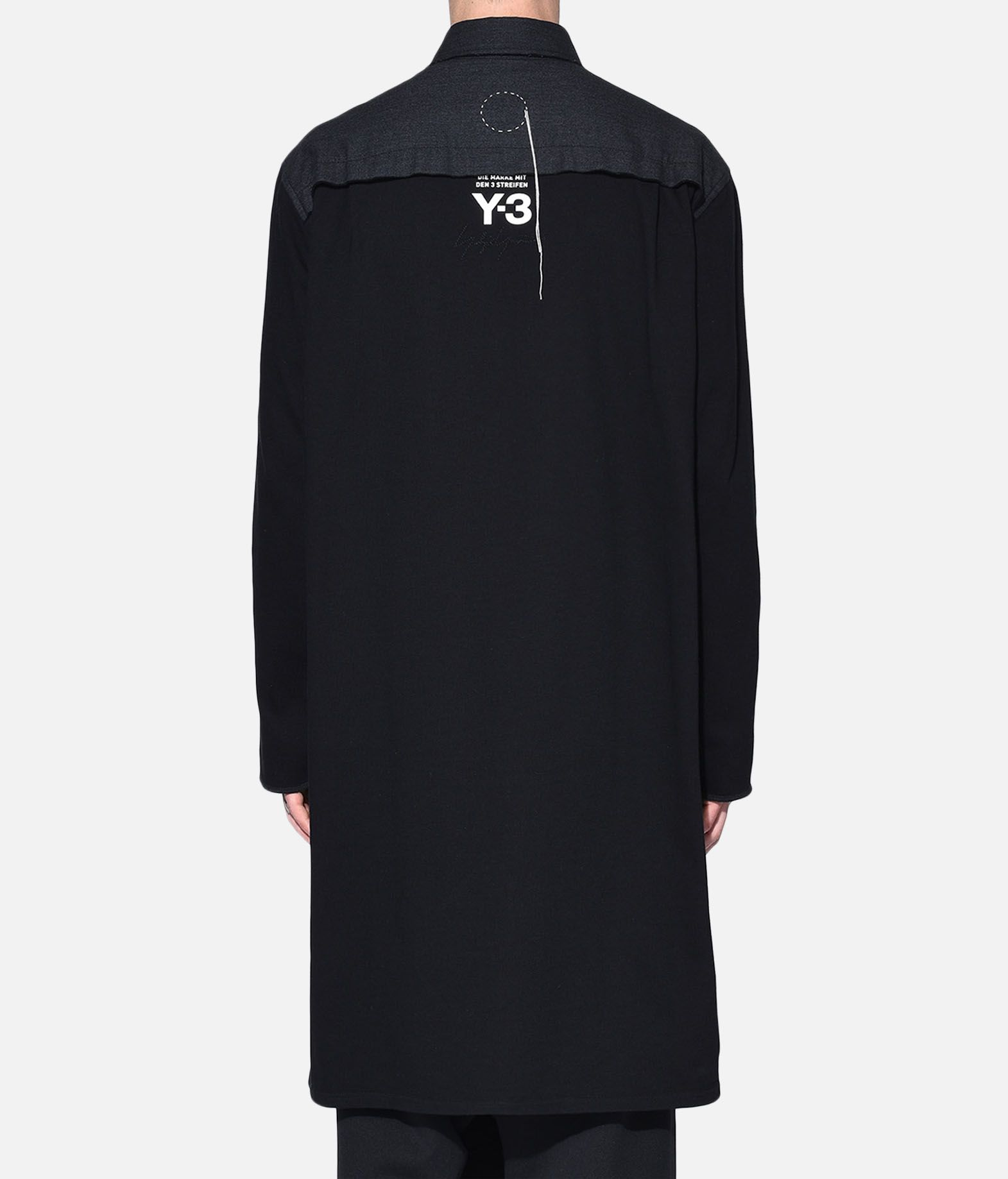 Y-3 Y-3 Herringbone Long Shirt Long sleeve shirt Man d