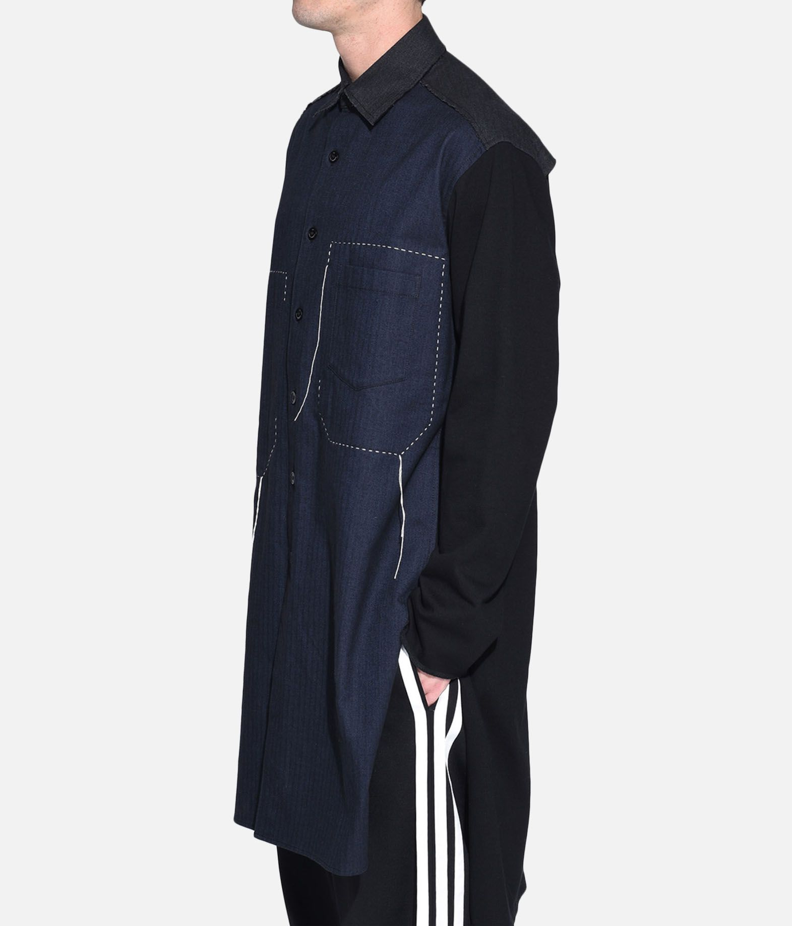 Y-3 Y-3 Herringbone Long Shirt Long sleeve shirt Man e