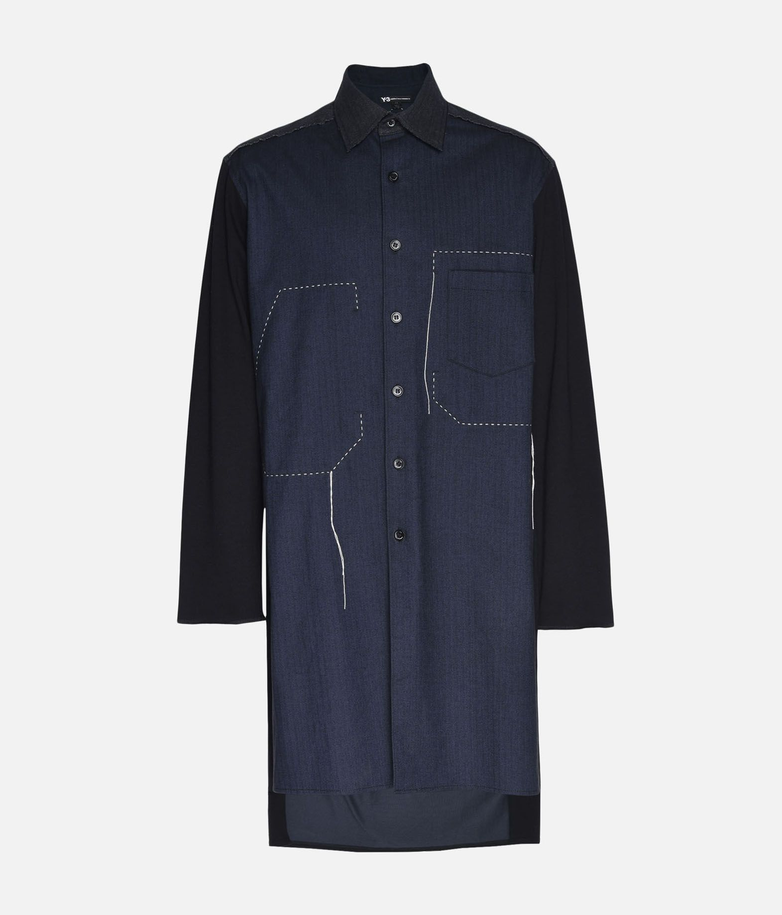 Y-3 Y-3 Herringbone Long Shirt Long sleeve shirt Man f