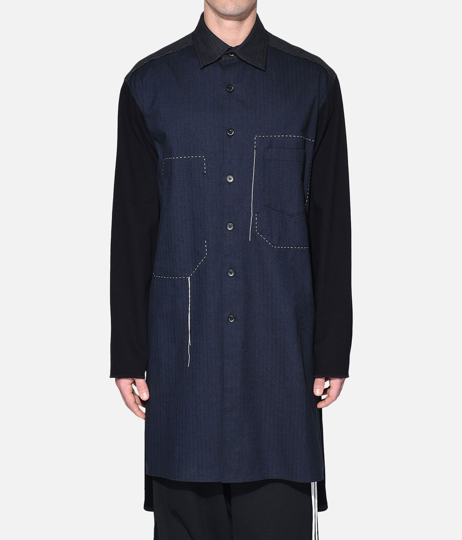 Y-3 Y-3 Herringbone Long Shirt Long sleeve shirt Man r