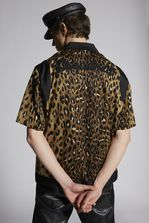 DSQUARED2 Leopard Bowler Shirt Shirt Man