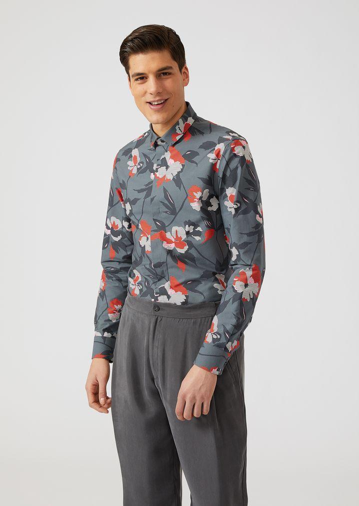 f11b88f8ce Camisa de algodón con estampado de flores