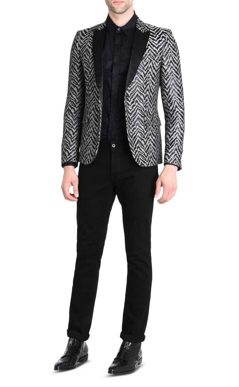 JUST CAVALLI Zebra-print shirt Long sleeve shirt Man r